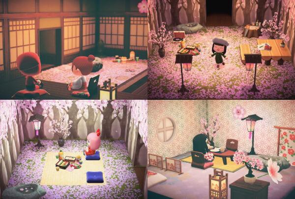 あつ森 花見 桜 部屋